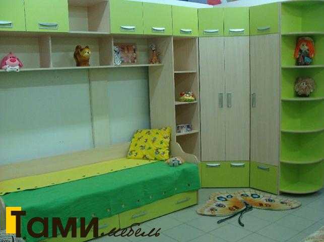 Детская кровать зеленого цвета в Гомеле