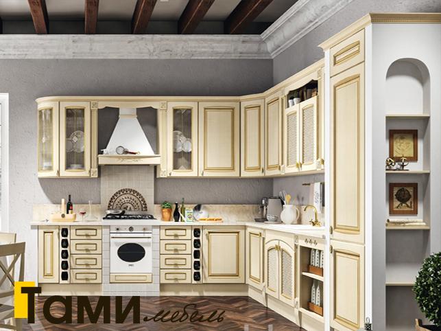 Кухня с фасадами из массива 4