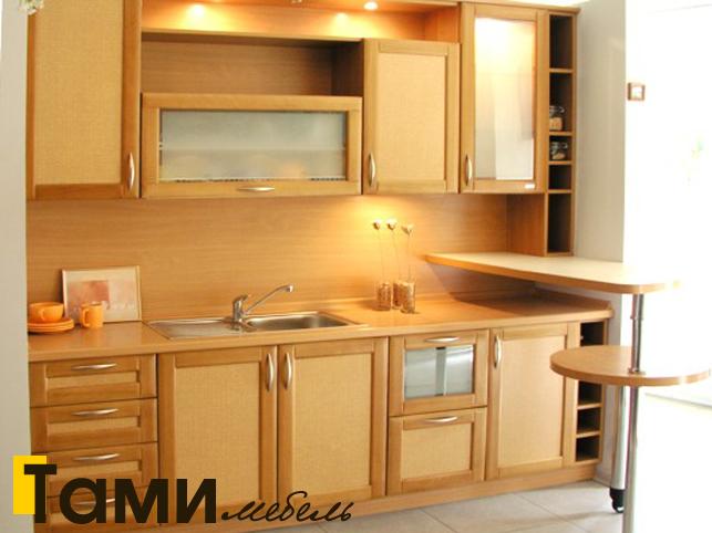 Кухня с фасадами из рамочного мдф10