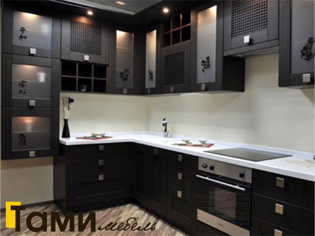 Кухня с фасадами из рамочного мдф12