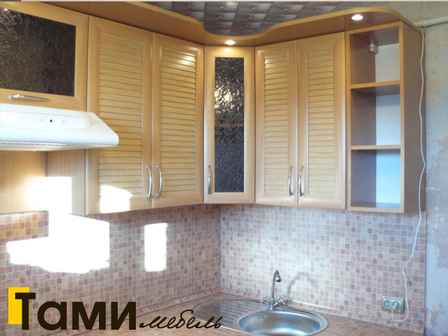 Кухня с фасадами из рамочного мдф6