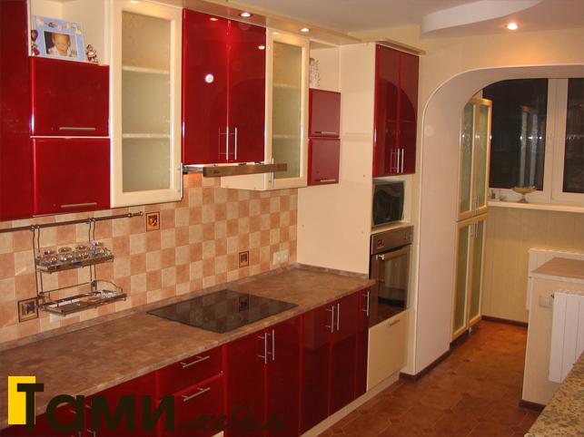 Кухня с фасадами пленочный мдф46