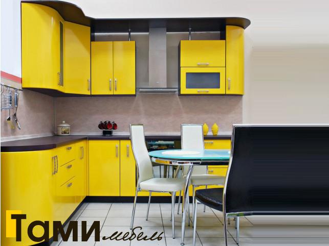 Кухня с крашенными фасадами 15
