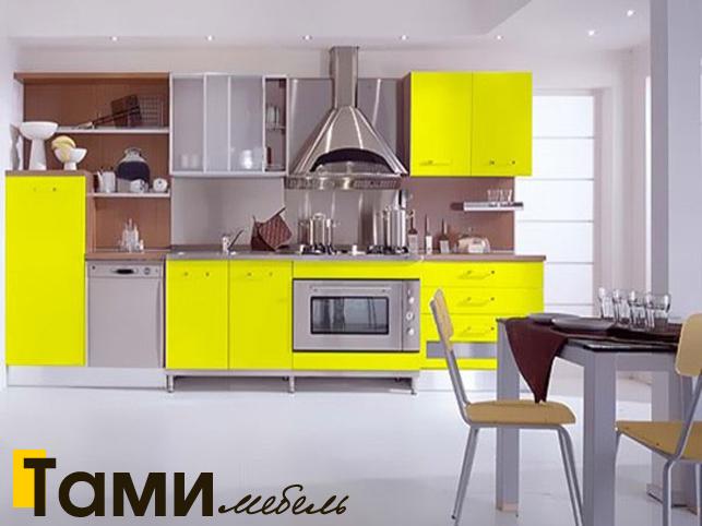 Кухня с крашенными фасадами 17