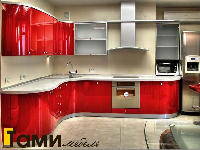 Кухня с крашенными фасадами 3