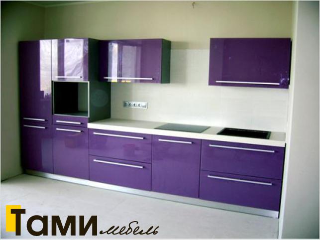 Кухня с крашенными фасадами 5