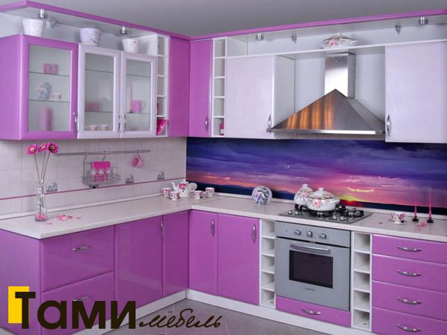 Кухня с крашенными фасадами 7