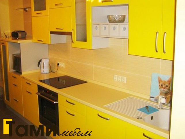 Кухня с крашенными фасадами 9