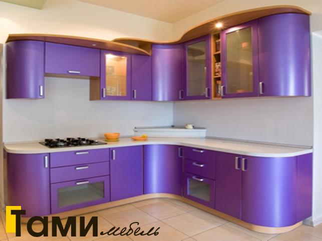 Кухня с крашенными фасадами в Гомеле1